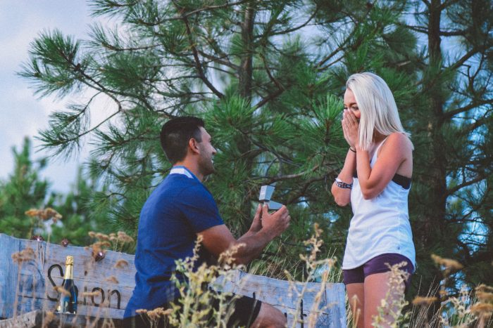 Sarah and Konrad's Engagement in Kelowna, BC