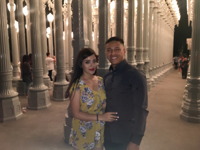 Wedding Proposal Ideas in LACMA Lights