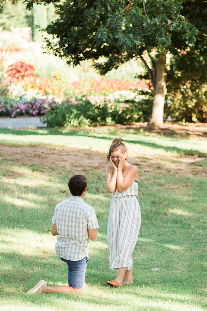 Engagement Proposal Ideas in Will Rogers Garden in Oklahoma City, OK