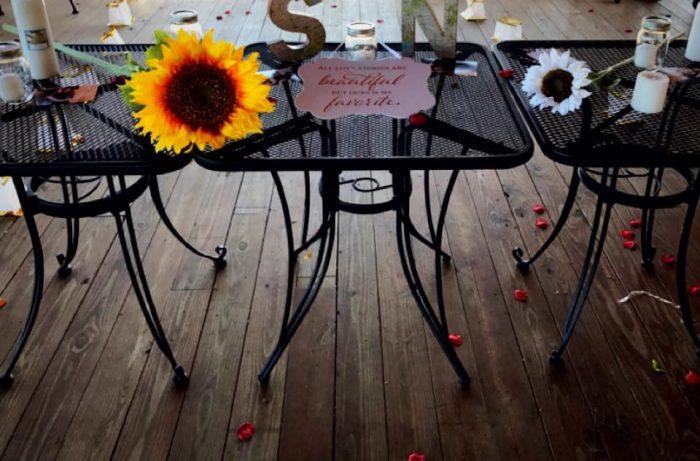 Engagement Proposal Ideas in Cafe Mooney Bay Marina, Lake Champlain, NY