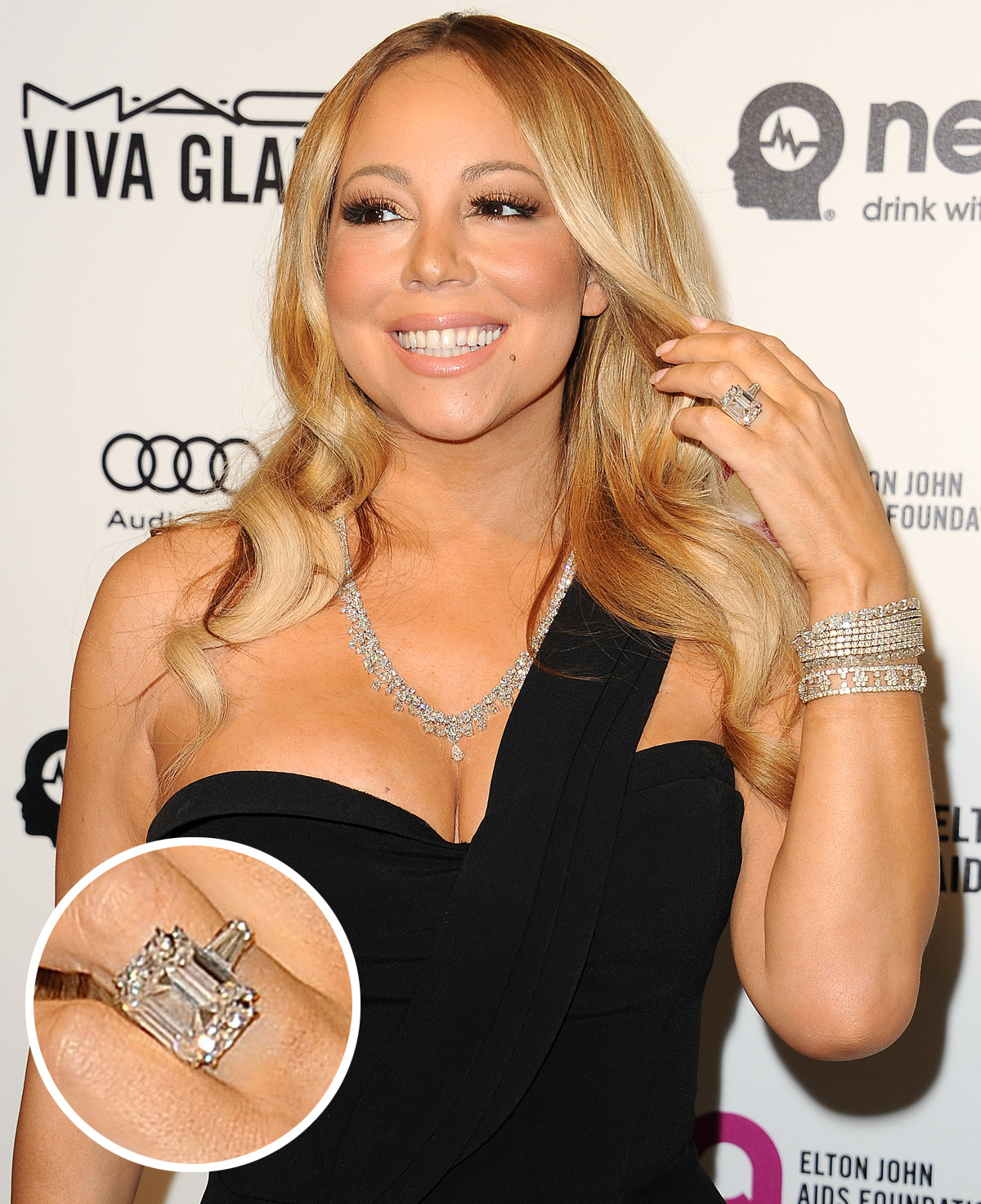 rings engagement gemstone intended colored aboutemeraldjewelry ring famous anna wedding for kournikova