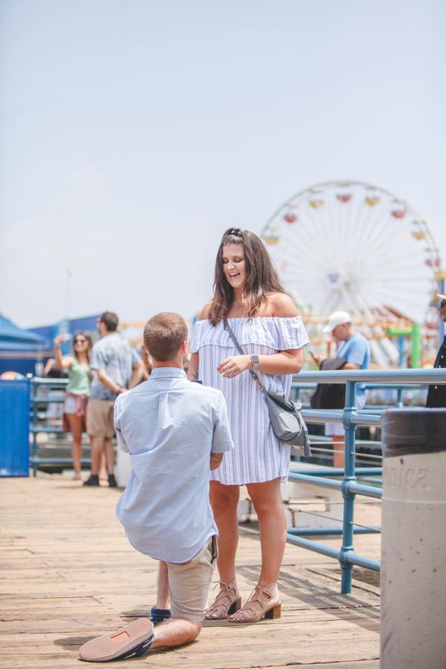 Wedding Proposal Ideas in Santa Monica Pier