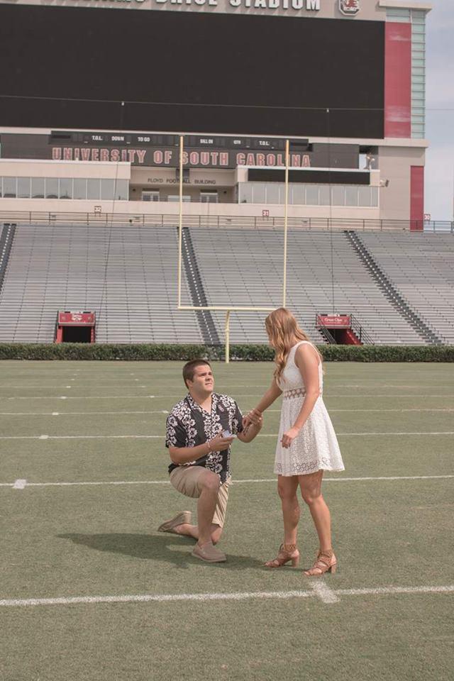 Wedding Proposal Ideas in Williams Brice Stadium in Columbia SC