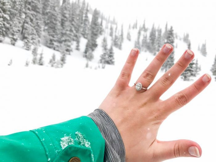 Kimberly and Austin's Engagement in Arapahoe Basin Ski Area