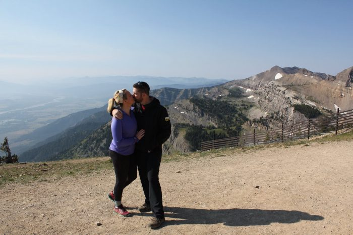 Where to Propose in Jackson Hole, Wyoming (On top of the Mountain!)
