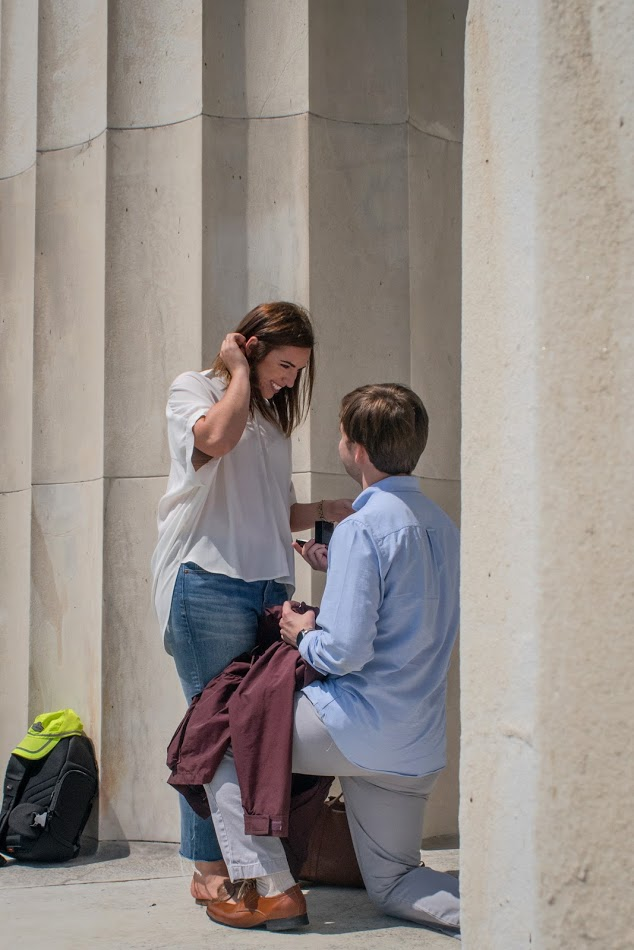 Marriage Proposal Ideas in The Lincoln Memorial, Washington, DC