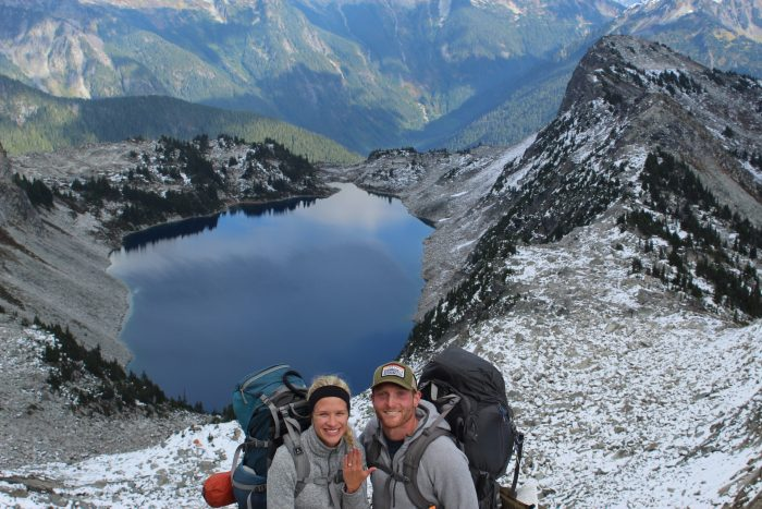 Zach and Tarah's Engagement in Hidden Lake Lookout, North Cascades, Wa