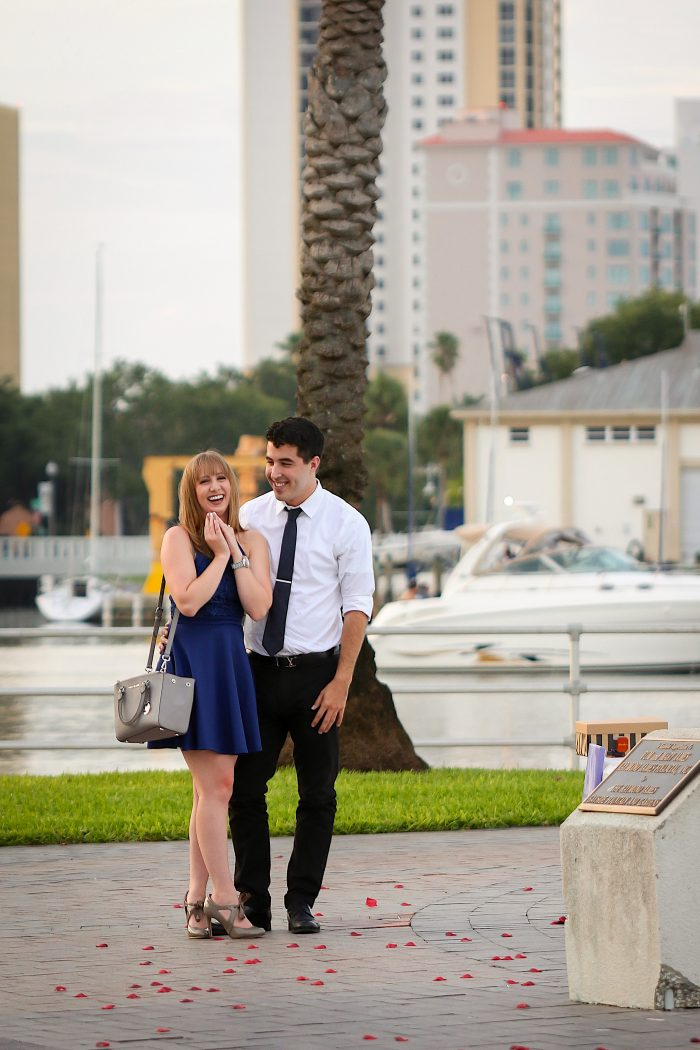 Alyssa and Vincent's Engagement in Downtown St. Petersburg, FL