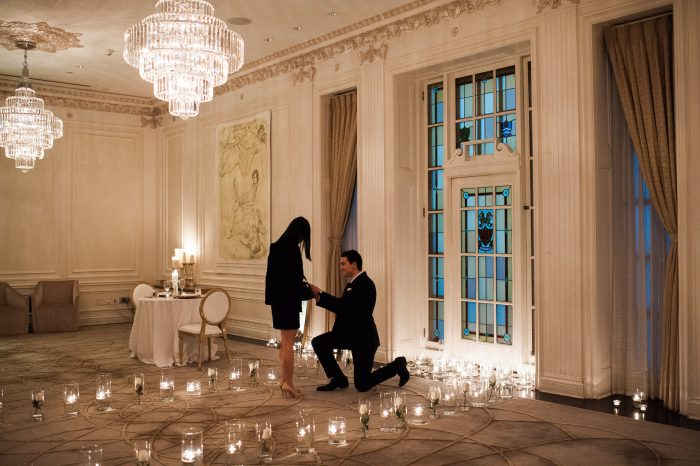 Where to Propose in Hawksworth Restaurant, private dinning room, Vancouver BC