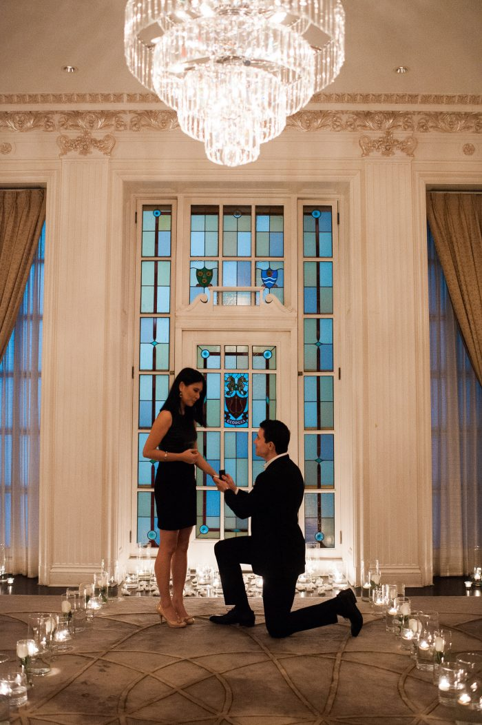 Wedding Proposal Ideas in Hawksworth Restaurant, private dinning room, Vancouver BC