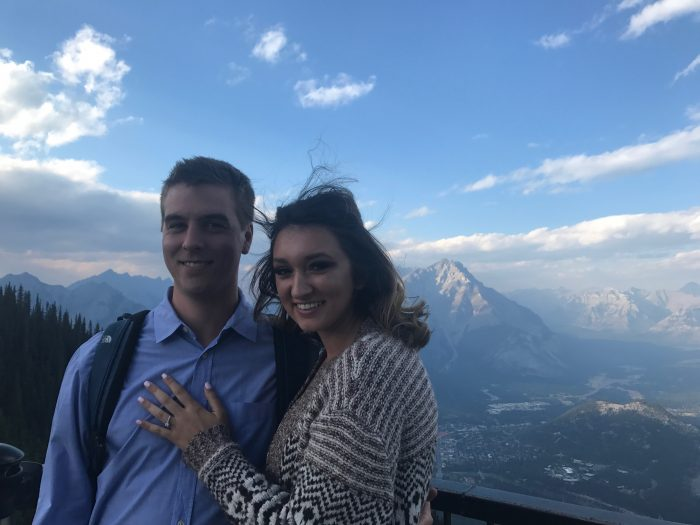 Engagement Proposal Ideas in Banff National Park, Alberta, Canada in a Gondola