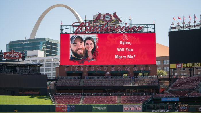 Marriage Proposal Ideas in Busch Stadium, St. Louis, MO