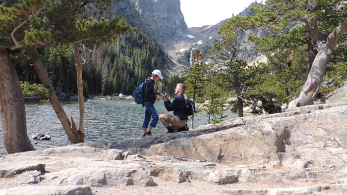 Where to Propose in Dream Lake, Rocky Mountain National Park, Colorado