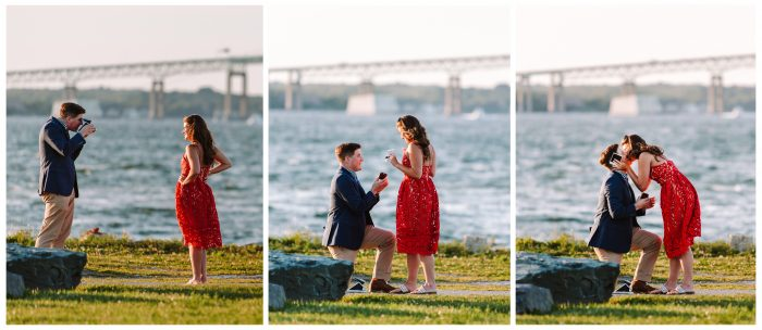 Olivia and Paul's Engagement in Fort Adams, Newport RI
