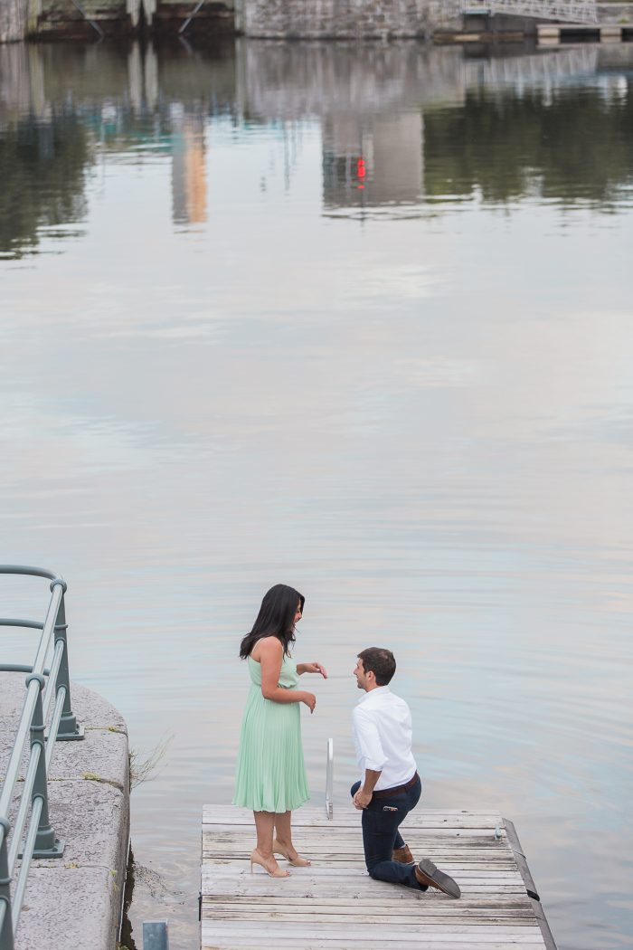 Wedding Proposal Ideas in Montreal Old Port