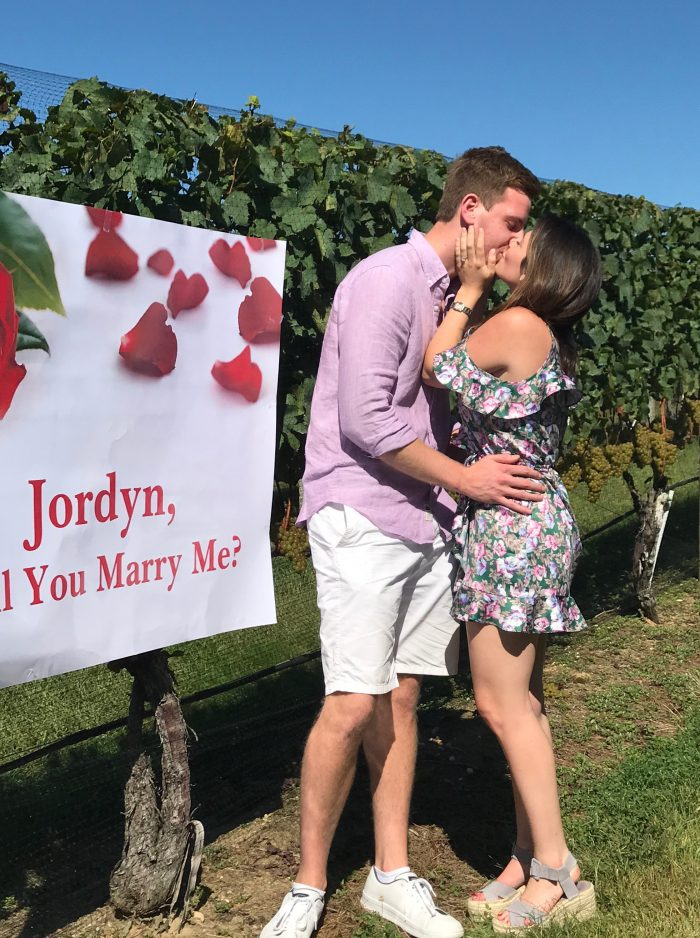 Marriage Proposal Ideas in Wölffer Estate Vineyard