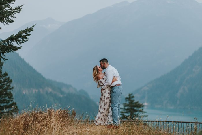Jenna and Matt's Engagement in Diablo Lake in the North Cascades in Washington State