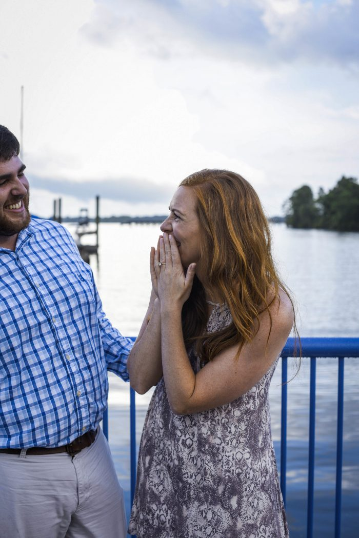 Marriage Proposal Ideas in Washington, NC waterfront