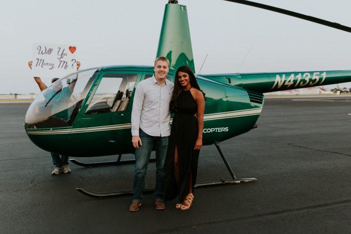 Asharel and Brady's Engagement in Richard Lloyd Jones Jr. Airport