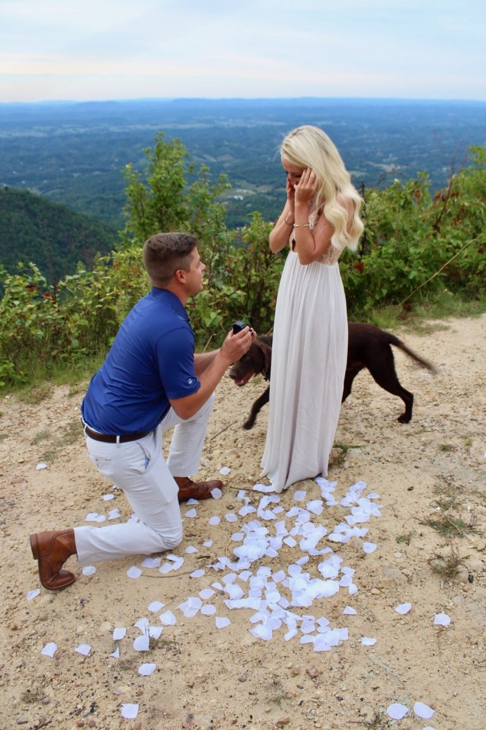 Marriage Proposal Ideas in Top of a mountain with a beautiful view where our first date was held