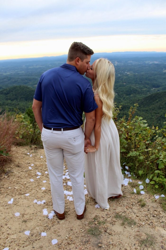 Alisha's Proposal in Top of a mountain with a beautiful view where our first date was held