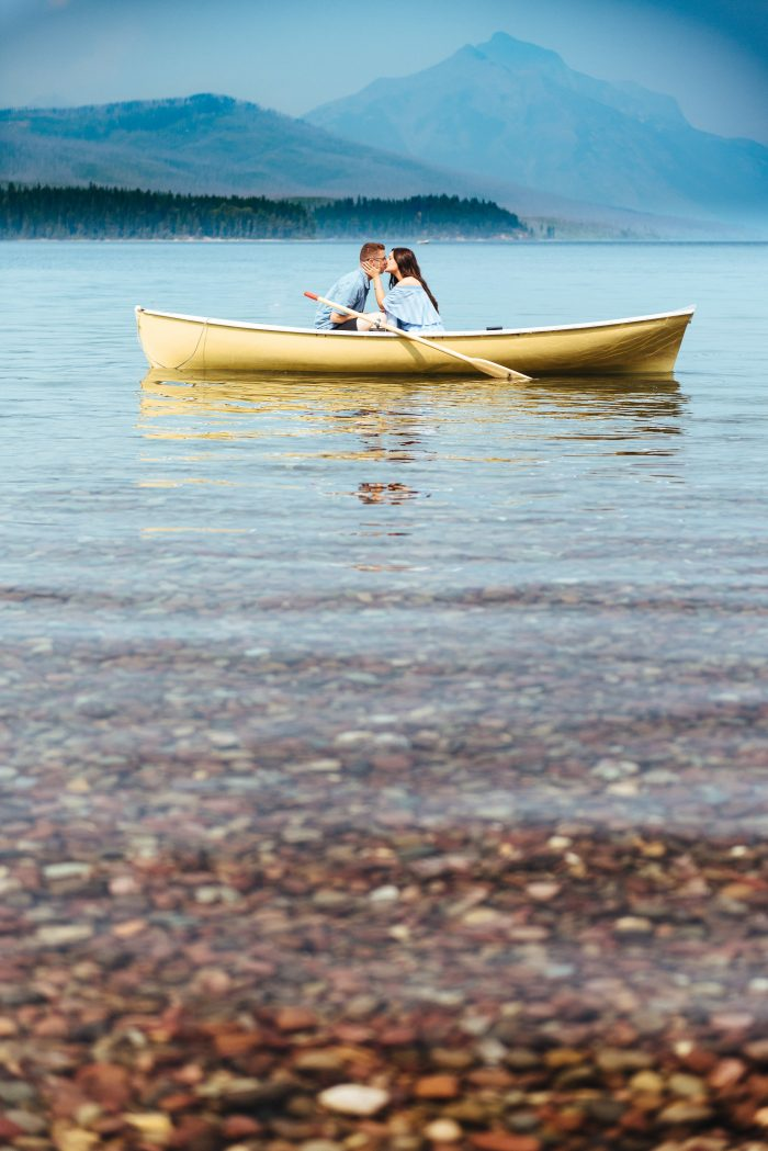Wedding Proposal Ideas in Lake McDonald, Glacier National Park. Montana