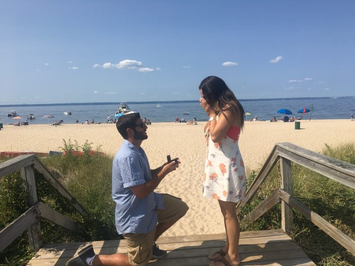 Dylan and Robert's Engagement in Walls Wharf in Bayview NY