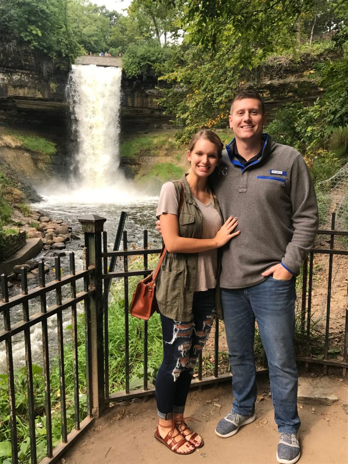 Morgan's Proposal in Minnehaha Falls, Minnesota