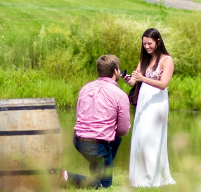 Wedding Proposal Ideas in Stone Tower Winery, Leesburg, VA