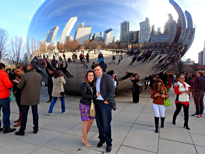Engagement Proposal Ideas in In front of the Bean in Chicago