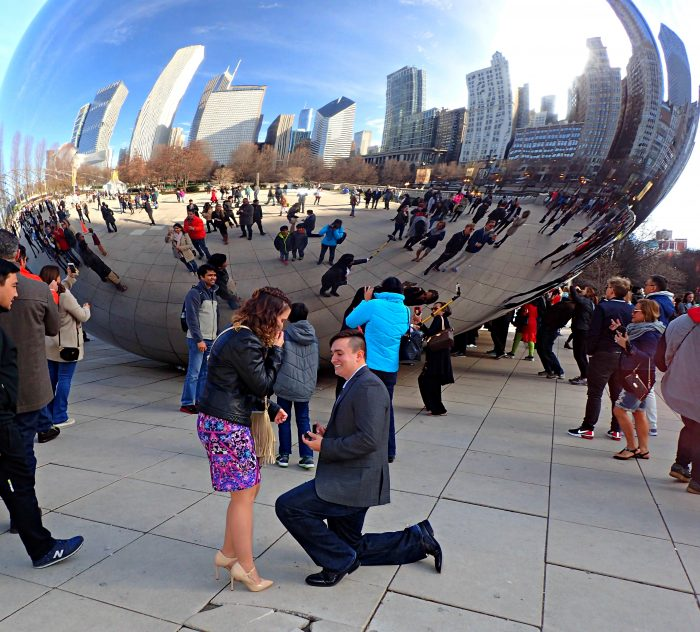 Marriage Proposal Ideas in In front of the Bean in Chicago