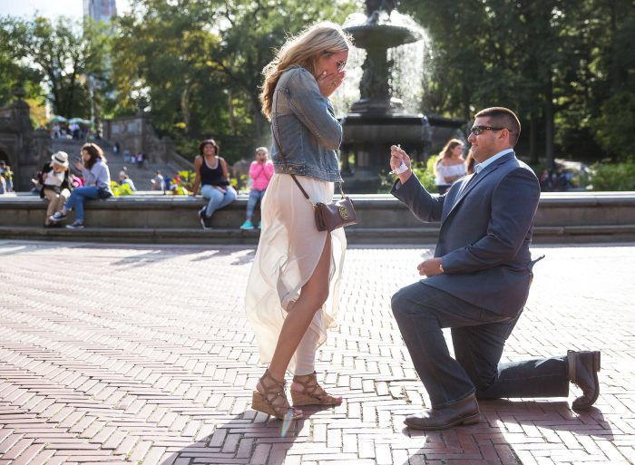 Louis and Lindsey's Engagement in Central Park
