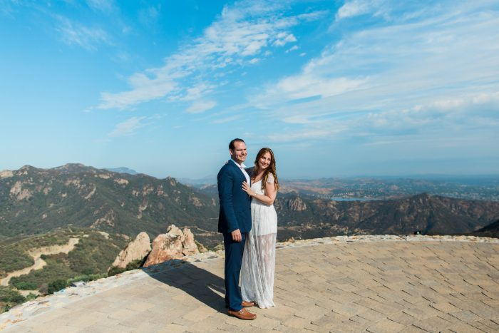 Kyle and Caroline's Engagement in Malibu Rocky Oaks Estate Vineyard