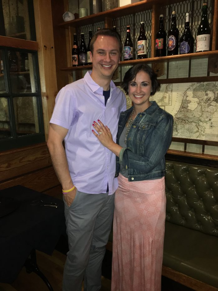 Where to Propose in Cafe Benelux in Milwaukee, WI