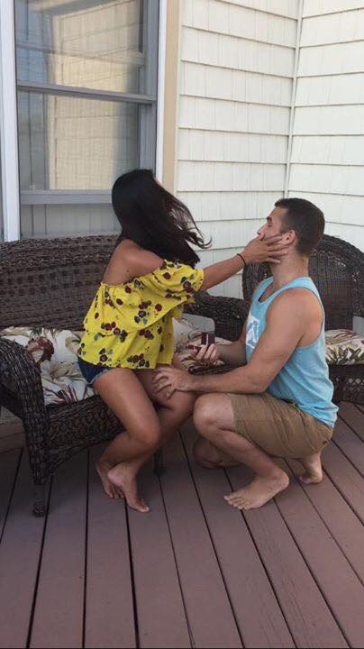 Faye Erika's Proposal in fiance's brother's in-laws' shore house in Seaside, NJ