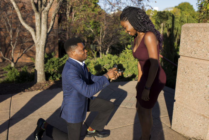 Busola and Tolu's Engagement in Centennial Lake Park