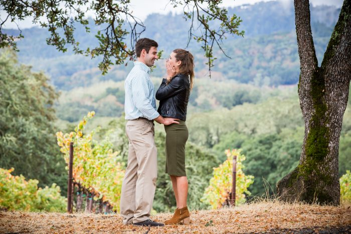 Marriage Proposal Ideas in Buehler Vineyards, Napa, California