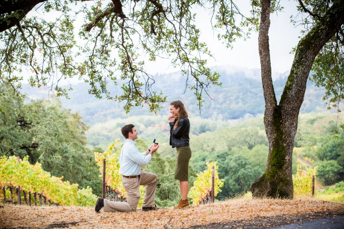 Jaclyn and Richard's Engagement in Buehler Vineyards, Napa, California