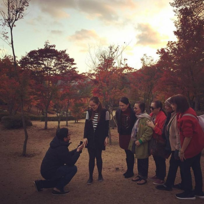 Jillian Georgina and Siegfried James's Engagement in Nami Island, South Korea