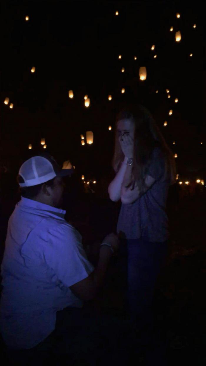 Engagement Proposal Ideas in Lights Festival in Rockdale, TX