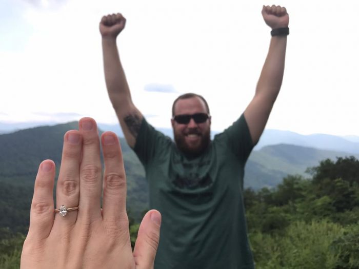 Anna and Garrett's Engagement in Blueridge Parkway - Asheville, NC
