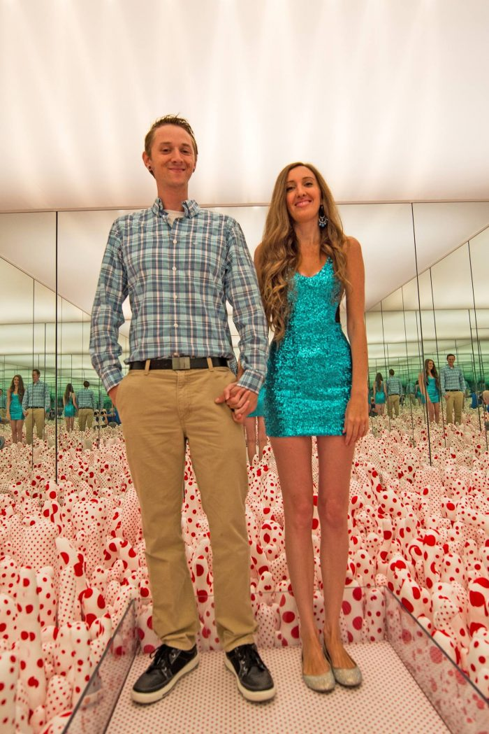 Chelsea and Benjamin's Engagement in Yayoi Kusama exhibit at Seattle Art Museum
