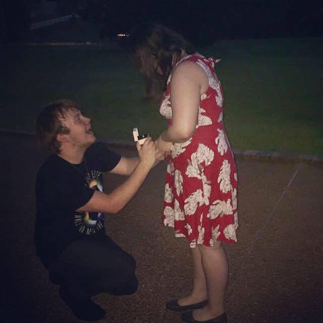 Breanna's Proposal in At his grandparents home
