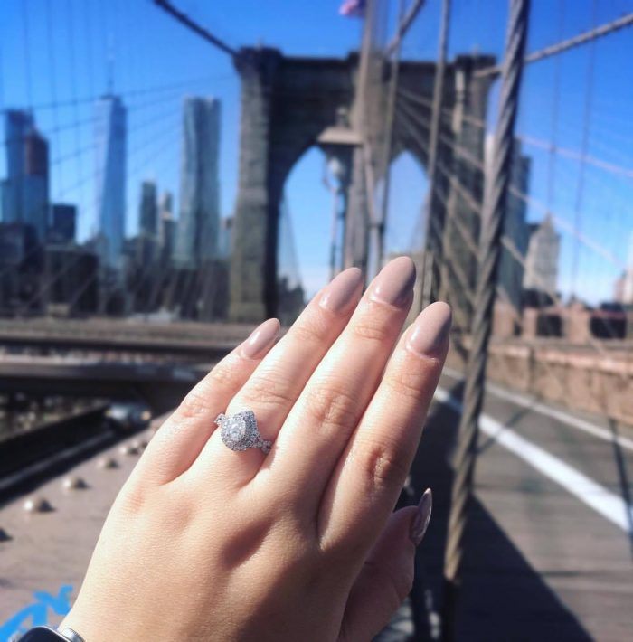 Bianca and Roger's Engagement in New York City- Brooklyn Bridge