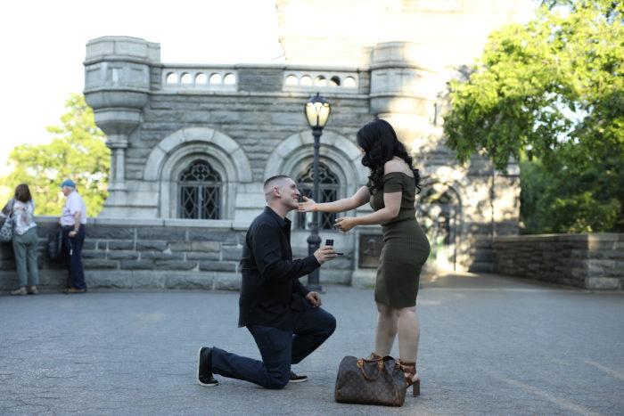Wedding Proposal Ideas in BELVEDERE CASTLE - CENTRAL PARK