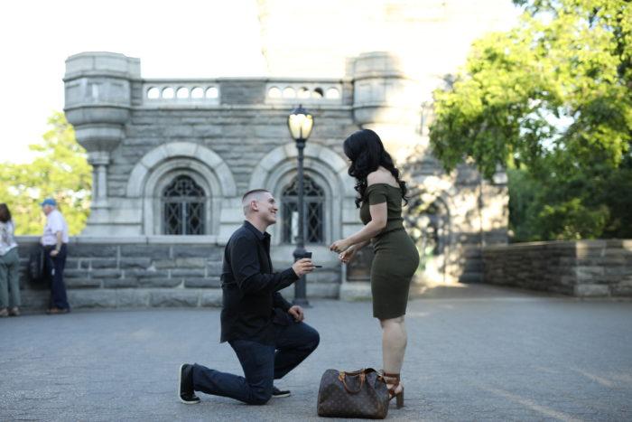 NATALIE and JOE's Engagement in BELVEDERE CASTLE - CENTRAL PARK