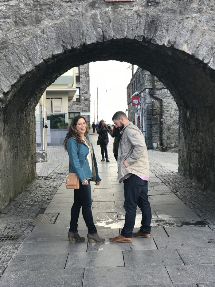Where to Propose in The proposal was in Galway, Ireland at the Spanish Arch