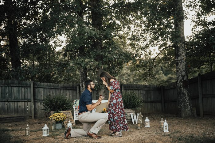 Marriage Proposal Ideas in My friend's backyard