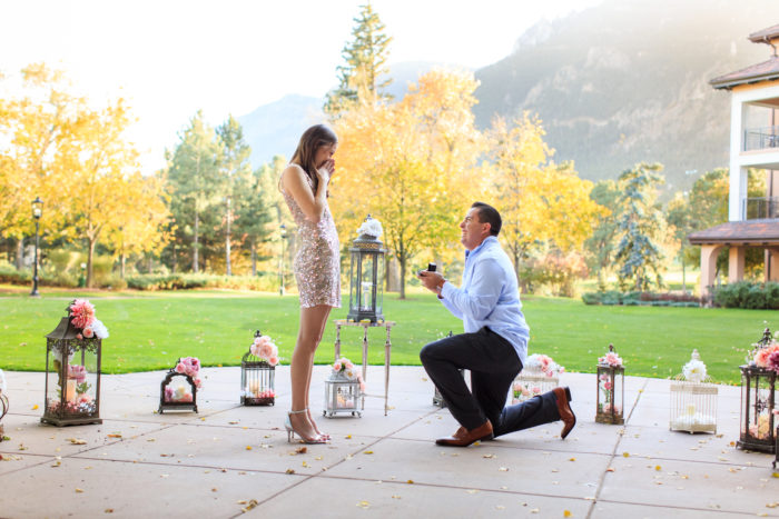 Lindsey and Joshua's Engagement in The Broadmoor in Colorado Springs, CO