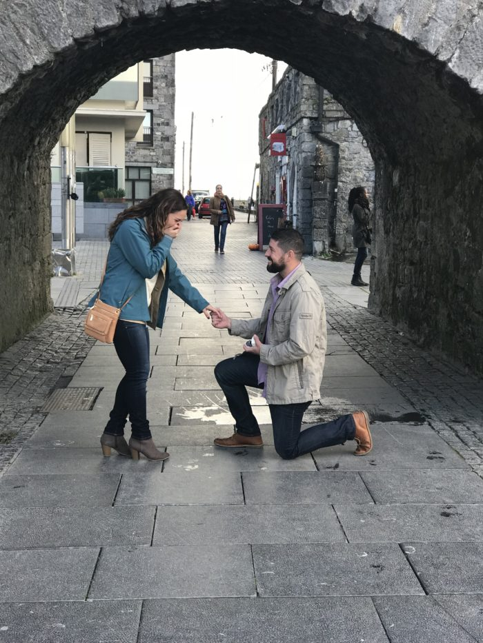Engagement Proposal Ideas in The proposal was in Galway, Ireland at the Spanish Arch